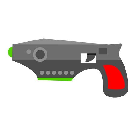 pistol gun: Pistol gun security bullet and ammunition protection metal gun. Danger military weapon. Weapon series vintage wild west army handgun military pistol gun vector. Illustration