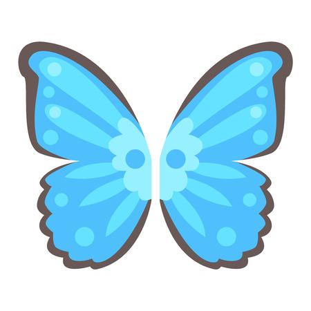 ailes de papillon isolé animaux isolé pignon. Ailes papillon isolé liberté insecte vol et vecteur ailes conception de paix isolé voler différents éléments