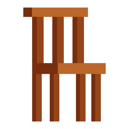 wooden chair: Wooden chair isolated on white background and chair isolated vector. Chair isolated furniture design and wooden chair isolated. Chair isolated comfortable decor interior elegance armchair. Illustration