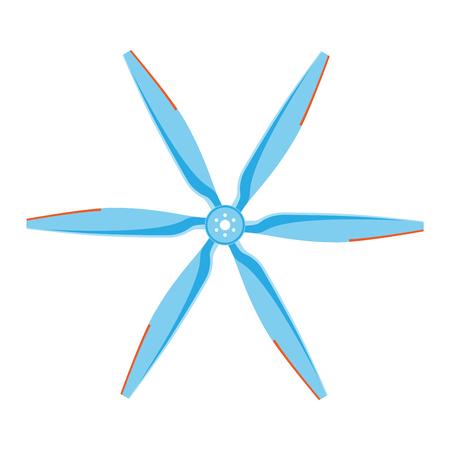 Turbines icons propeller fan rotation technology equipment. Fan blade, wind ventilator propeller fan equipment generator. Vector illustration propeller fan vector electric industrial ventilators. Illustration