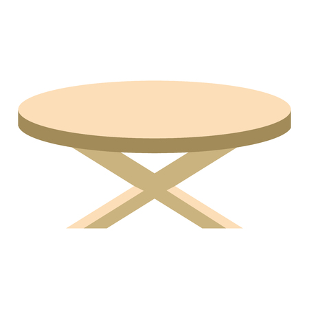 backgrouns: Wooden table flat vector isolated on white backgrouns Illustration