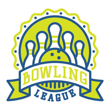 Vector Bowling Logo Emblem And Sport Design Element Logotype Template Badge