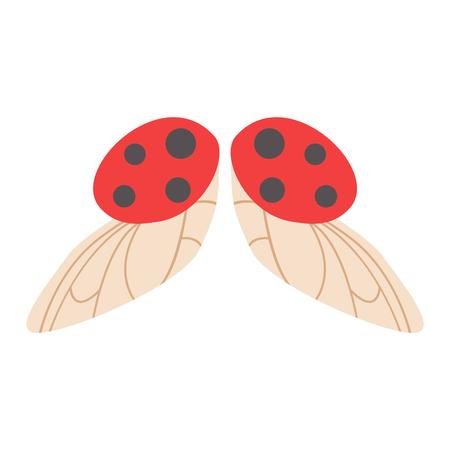 ailes de coccinelle isolé animaux isolé pignon. Ailes isolé Coccinelle liberté insecte vol et vecteur ailes conception de paix isolé voler différents éléments