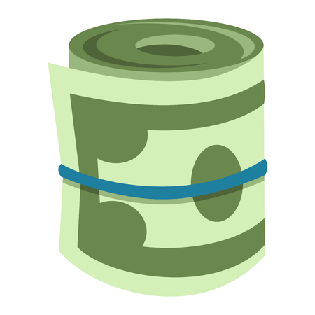 Stack of paper dollar money symbol icon vector isolated. Concept icon for finance, banking, payment. Currency dollar stack money symbols online commerce. Dollar money symbol icon isolated Illustration