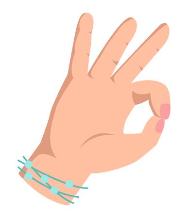 coincidir: La autorizaci�n del gesto de mano de �xito y el acuerdo s� okey mano. de acuerdo humana negocio se�al con la mano okey. Mejor aprobaci�n aceptar. Silueta de la mano que muestra el s�mbolo de todo lo ok Vectores