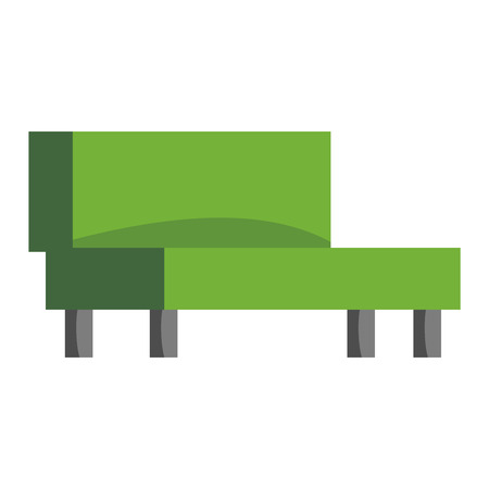 green couch: Green couch sofa isolated home seat. Style interior comfortable sofa isolated fashion texture decor Contemporary room color luxury sofa isolated vector decor single elegance armchair.