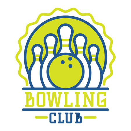 league: Vector bowling logo emblem and sport logo design element. Bowling logotype template and badge. Bowling badge sport item design for sport league teams