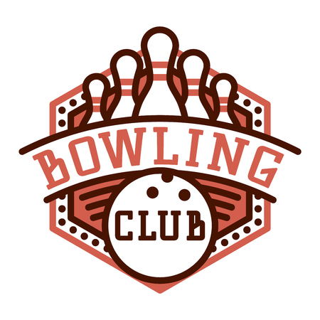 spare: Vector bowling logo emblem and sport logo design element. Bowling logotype template and badge. Bowling badge sport item design for sport league teams
