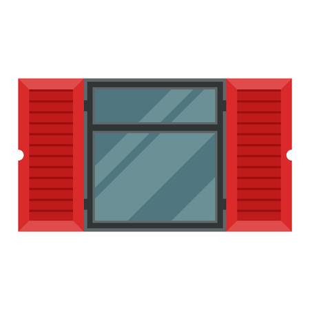 sill: House window vector element isolated on white background. Window element flat vector style. Vector window frame isolated on white