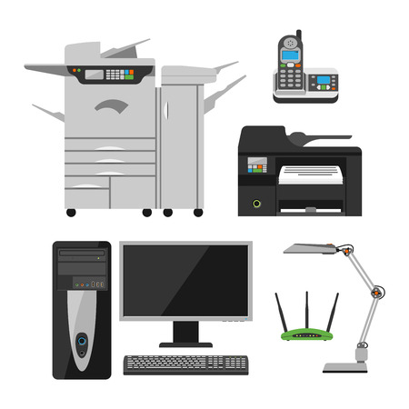 hard disk drive: Group computer office equipment laptop, monitor, tablet pc, smart phone printer keyboard. Computer office equipment digital photo camera, computer mouse and computer office equipment hard disk drive.