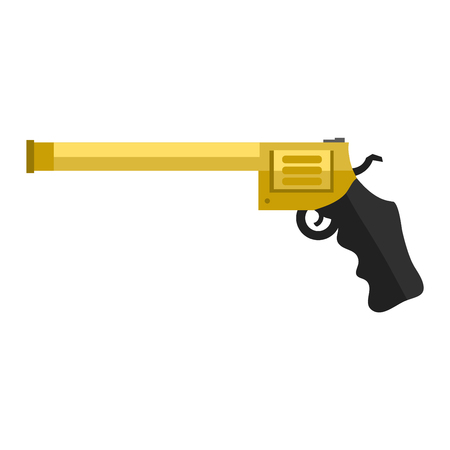 Pistol gun security bullet and ammunition protection metal gun. Danger military weapon. Weapon series vintage wild west army handgun military pistol gun vector. Illustration
