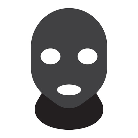 housebreaking: Thief man dark bad avatar. Avatar thief bad criminal man law mugger, housebreaking. Lawbreakers cracker. Thief man in the hood danger person in black mask vector. Illustration