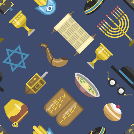 synagogue: Jewish icons israeli seamless pattern religious symbol jew icons synagogue culture.