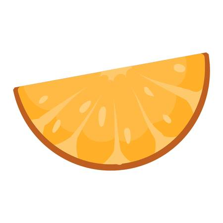 refreshment: Ripe fresh orange on a white background. Orange isolated vector and juicy ripe vitamin fresh orange isolated. Orange isolated tropical healthy fruit and refreshment exotic dessert.