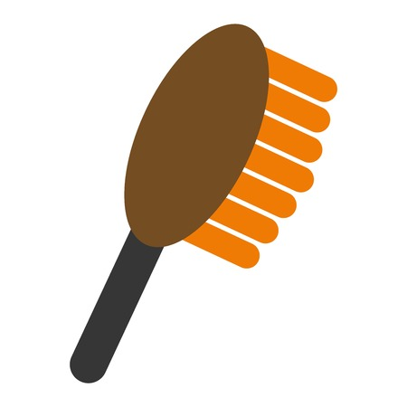 Fashion professional comb icon and style comb hairdresser care icon equipment. Professional comb icon barbershop flat vector illustration. Ilustração Vetorial