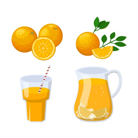 orange juice: Glass of orange juice fresh drink beverage healthy drink isolated vector illustration. Glass of juice pineapple and multi fruit and citrus sweet juice glass. Citrus juice sweet liquid.