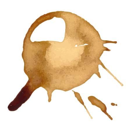 Coffee staiin spots splashes cup vector isolated on white background. Coffee spots splash vector. Vektoros illusztráció