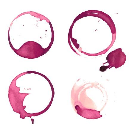 macchie di vino staiin spruzza tazza vettoriale isolato su sfondo bianco. macchie Spruzzata del vino di vettore.
