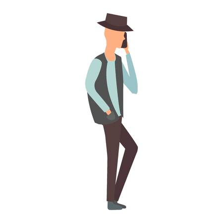 talking phone: People talking phone character and silhouette talking phone. Telephone communication people lifestyle. Calling mobile business people talking phone character vector illustration