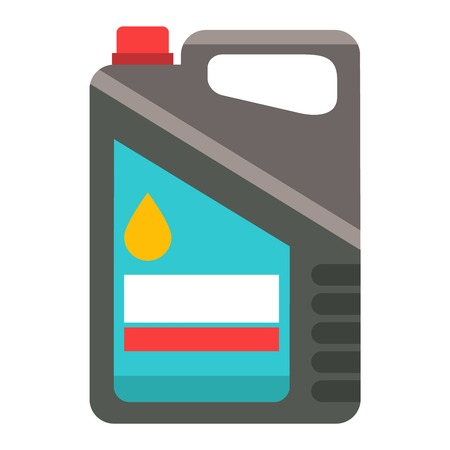 canister: Metal canister of gasoline cartoon flat vector canister illustration. Illustration in vector gasoline canister and diesel industry gasoline flat canister. Oil canister vector