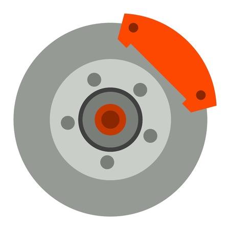 car brake: Car brake discs system spare part auto repair vehicle metal automobile tool vector illustration. System car brake discs