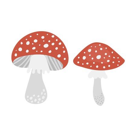 poisonous: Amanita poisonous mushroom Illustration