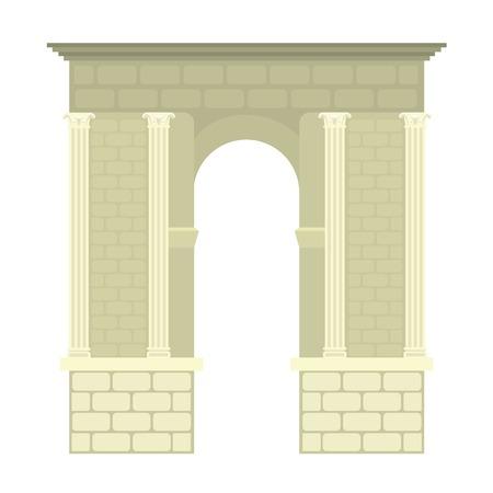 アーチ建築建設フレーム アーチ  イラスト・ベクター素材