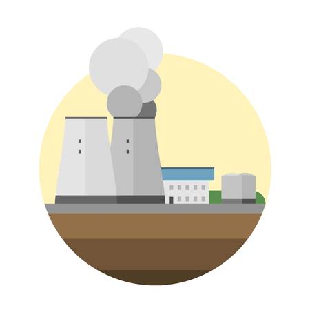 source: Type of power and energy source generation icon. Energy source station building renewable or sustainable and energy source sign