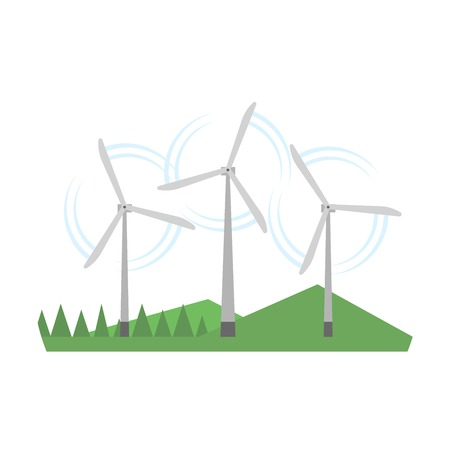 alternative energy sources: Type of power and energy source generation icon. Energy source station building renewable or sustainable and energy source sign