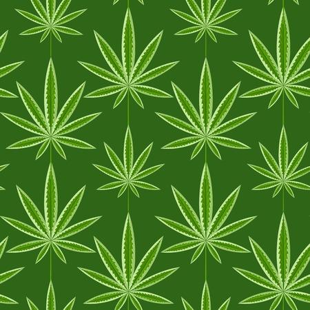 marihuana: Green marijuana background  illustration. marihuana background leaf pattern repeat seamless repeats. Marijuana leaf background herb narcotic textile pattern. Different  patterns.