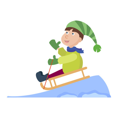 baby playing toy: Christmas kid playing winter games. Christmas children playing. Cartoon New Year winter holiday background. Illustration