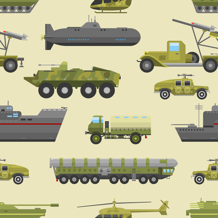 industrial drawing: Tank seamless background. Vehicle clockwork military trucks pattern. Army machinery artillery old technology vintage drawing. Weapon industrial motor road car. Illustration