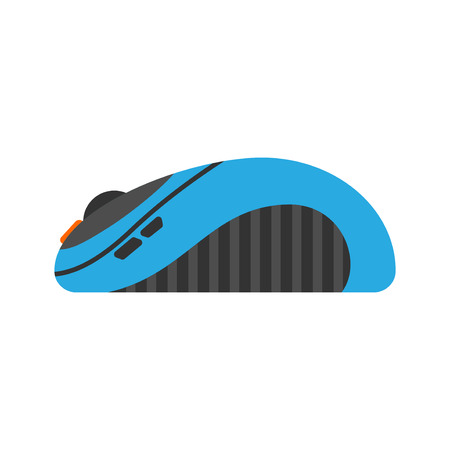 scrolling: Computer mouse icon vector illustration. Flat computer design business technology. Modern instrument cursor work reflection and scrolling equipment.