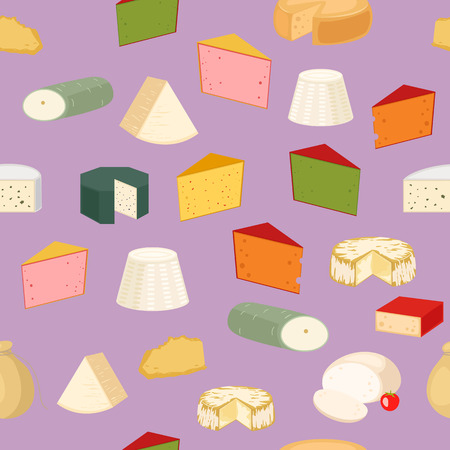 Seamless pattern with cheese and holes. Cheddar milk edam breakfast background design. Taste element drawing food gourmet decorative art. Swiss dairy product.