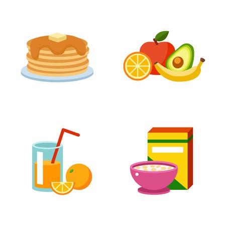 produits céréaliers: Une alimentation saine, les protéines graisses les hydrates de carbone petit alimentation équilibrée, la cuisine, vecteur culinaire et le concept de la nourriture. naturel bilan énergétique végétarien Matin.
