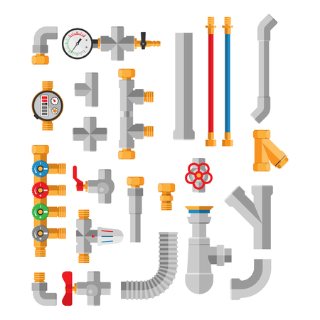 Pipes vector icons isolated.