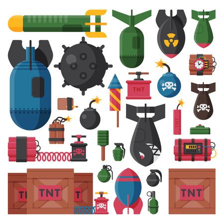 dinamita: Bomb vector illustration. Vectores