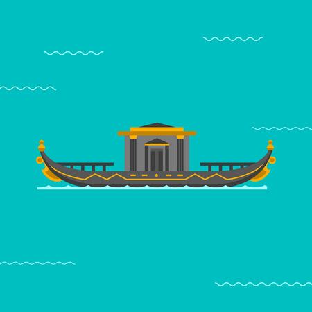 Boat vector illustration.