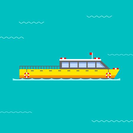 Ship vector illustration. Illustration