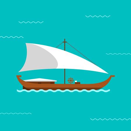 Sailing ship vector illustration.