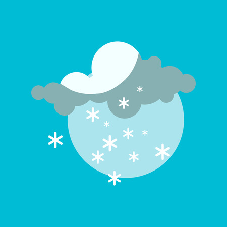 overcast: Weather snowflake icon vector. Illustration