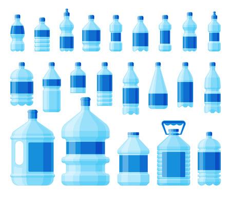 Water bottle set vector.  イラスト・ベクター素材