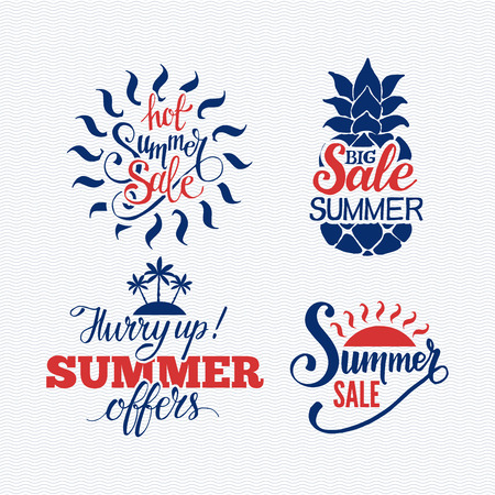 summer sale: Summer sale badge vector.