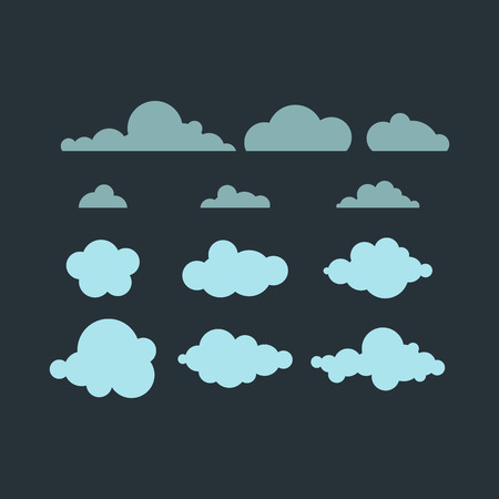 Cloud vector icon. Illustration