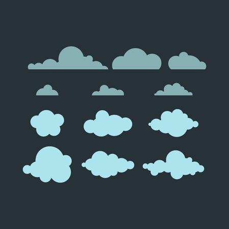 Cloud vector icon. Illustration