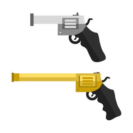 Weapons vector handguns. Illustration