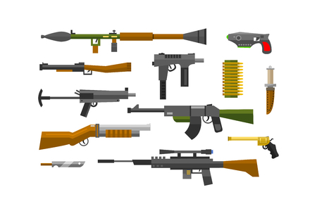 weapons: Flat weapons vector.