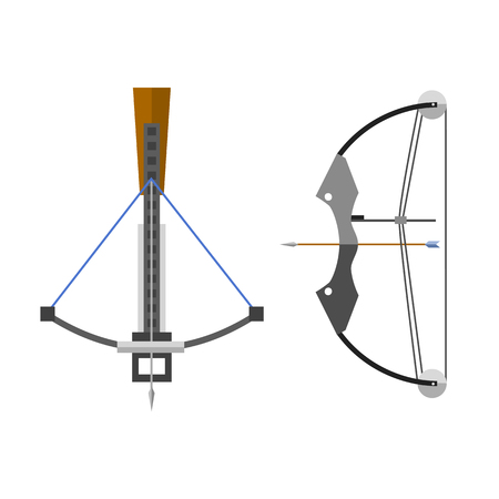 crossbow: Crossbow arbalest vector illustration