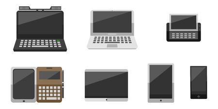 old notebook: Computer vector evolution illustration.