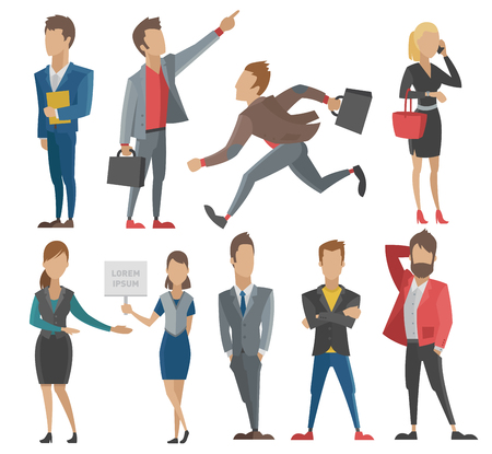 people: Business people man and woman vector illustration.